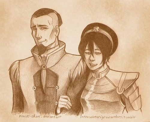 Chief Toph Bei Fong and Councilman Sokka