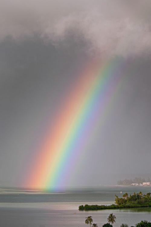 Rainbow off MCBH - Heeia, Honolulu, Hawaii (by Dand McManus)