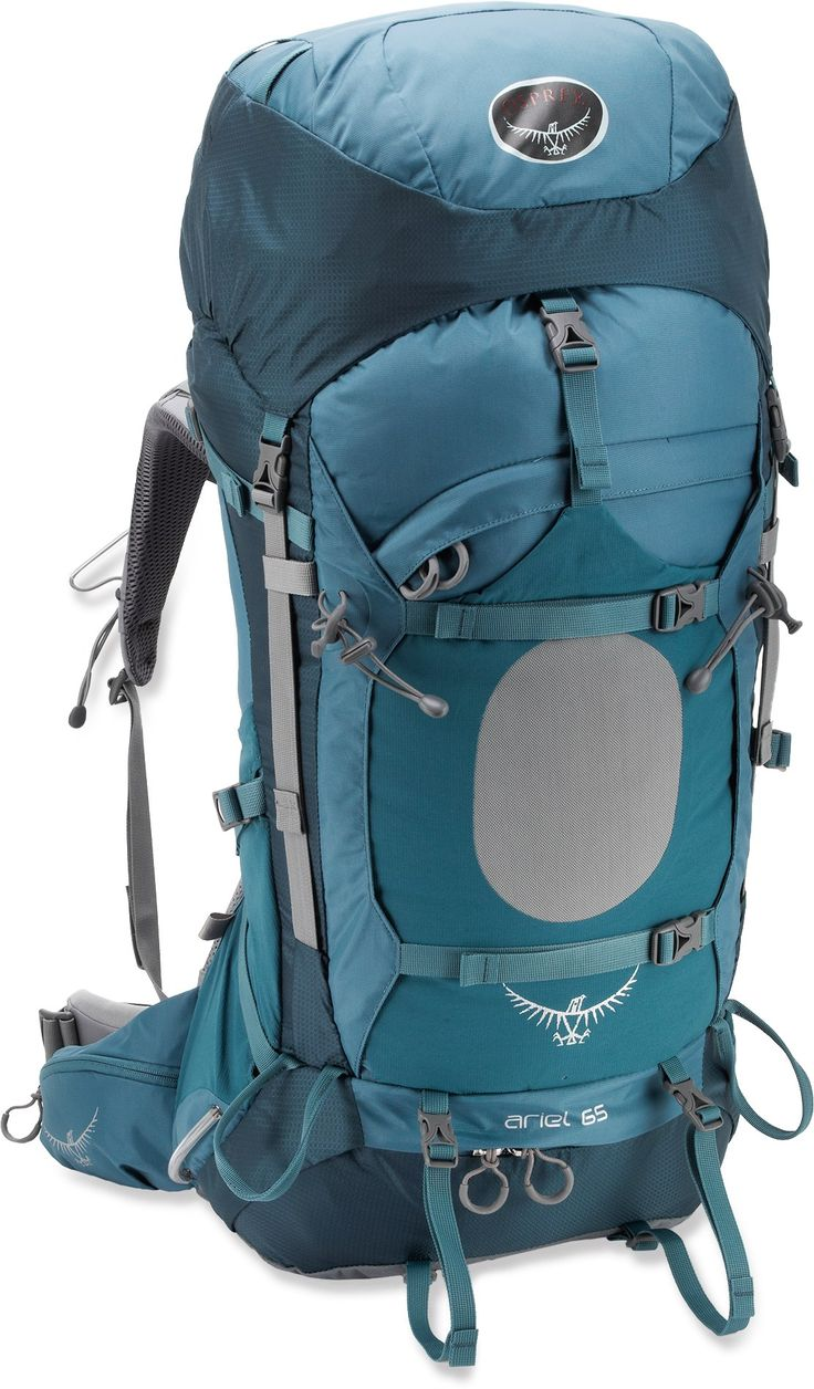 Osprey Ariel 65 Pack - Women's - Free Shipping at REI.com I'm dreaming here. This has everything you could think of and the floating lid and hip strap even come off to convert into a daypack. The hip strap can be molded to your body in store and compression straps are everywhere. Lastly, there is a sleeping bag compartment.