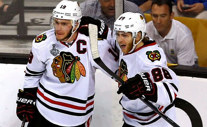Jonathan Toews, Patrick Kane sign eight-year contracts with Chicago Blackhawks. contracts are worth $10.5 million each per season... click to read more!
