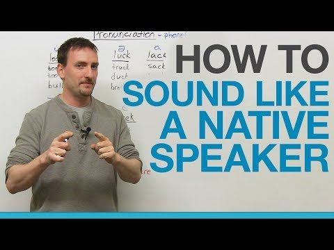 How to sound like a native speaker: THE SECRET - YouTube