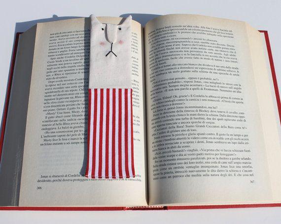 Cat bookmark Kids gift bookmark Animal bookmark by DollsByJulia