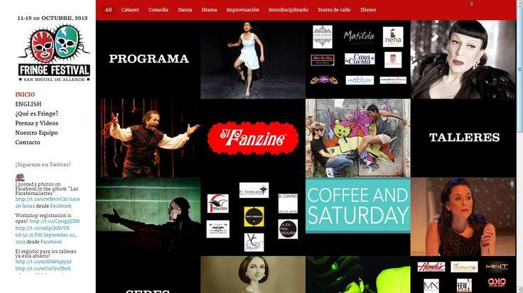 Teatro en múltiples idiomas. Fringe Festival San Miguel de Allende es una celebración de las artes escénicas y diversas sedes en esta ciudad histórica y cosmopolita. Se presentará del 10-19 de octubre.