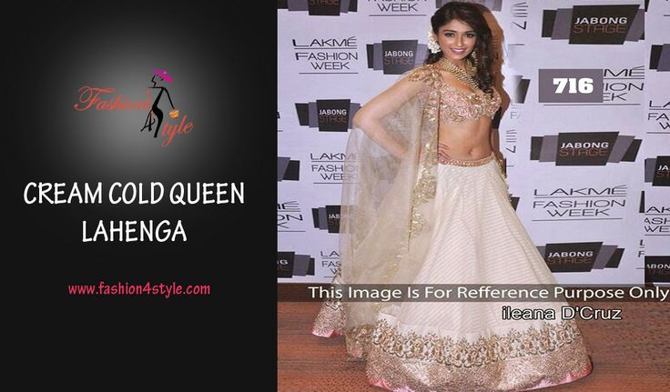 Cream Gold Queen Lehnga | http://www.fashion4style.com/woman/clothing/bollywood-replica/cream-gold-queen-lehnga/pid=MTQ0 #love #party #beautiful #weddingsuit