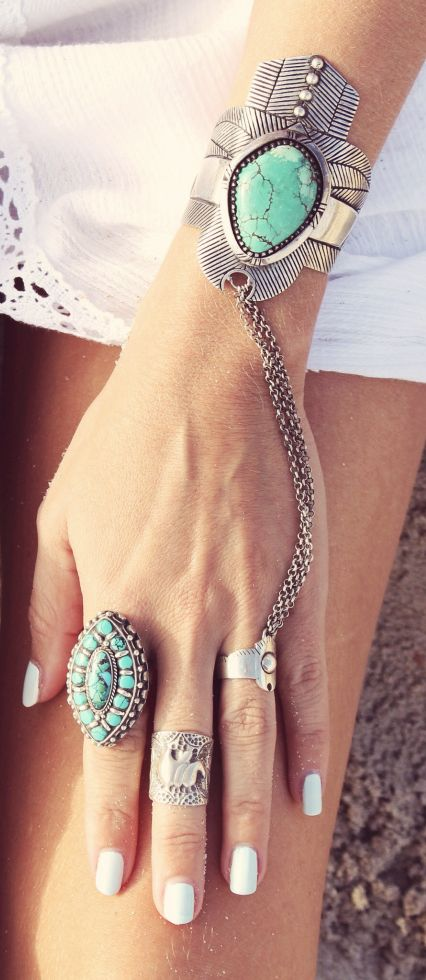 Bangle and ring.