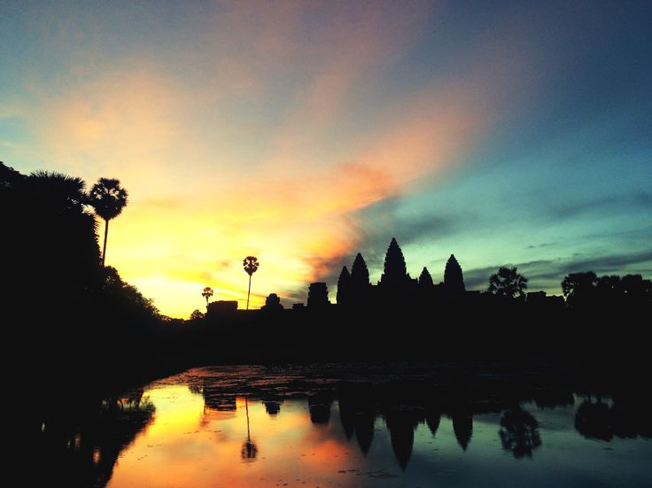#AngkorWat #Cambodia #Sunrise