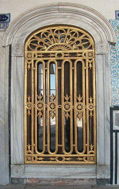 Gilded screen,Topkapi Palace, Istanbul, Turkey