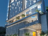 CI Hotel Abidjan:A 25-storey hotel, conference centre and apartment building located on a tight urban site overlooking the Boulevard de Gaulle.