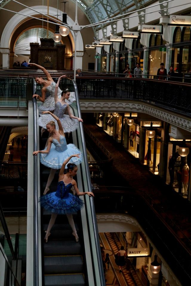 just dancing...on an escalator...