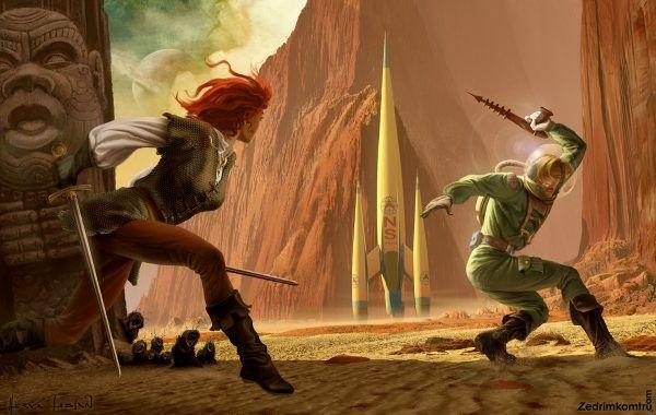 Jirel De Joiry Les Aventures De Northwest Smith Digital Illustration Fantasy Literature Art