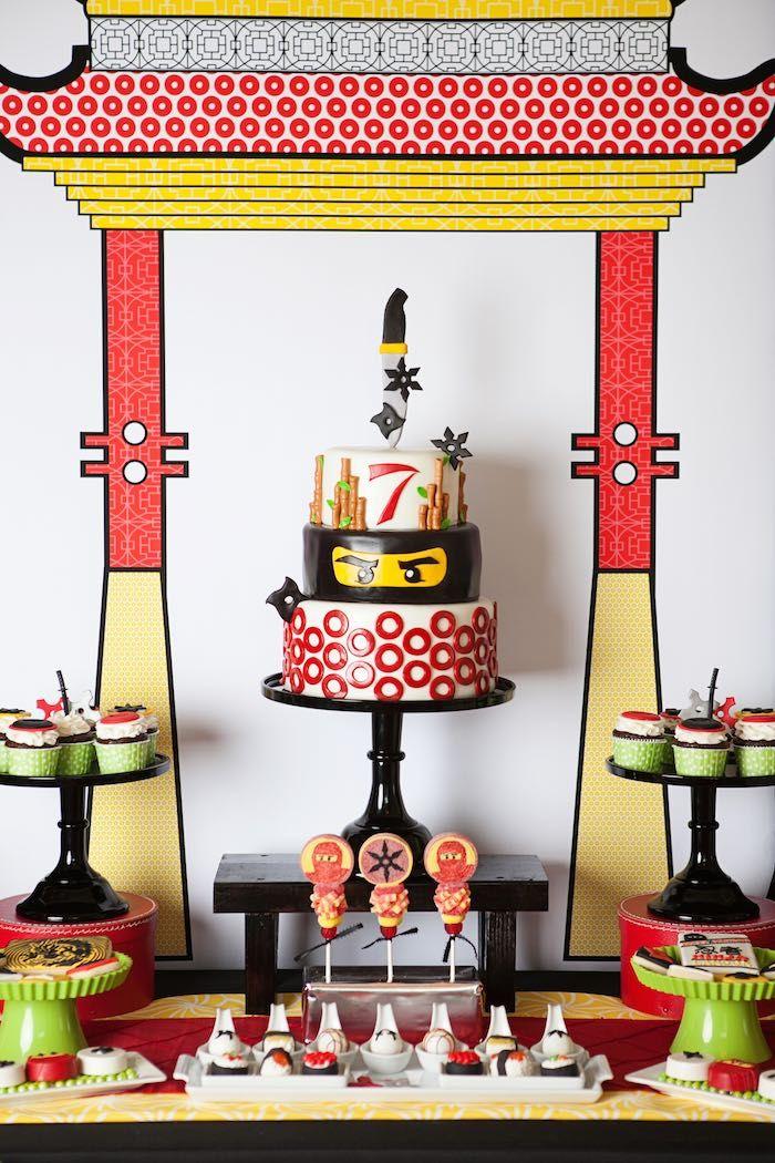 LOVE the Lego Ninjago cake--mostly the ninja layer.