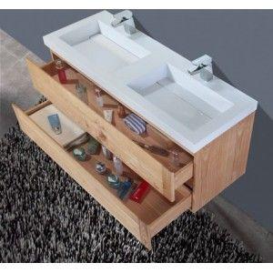 Gezien op Beslist.nl: Atlas Ocean 120 cm Eiken badmeubelset badkamermeubel