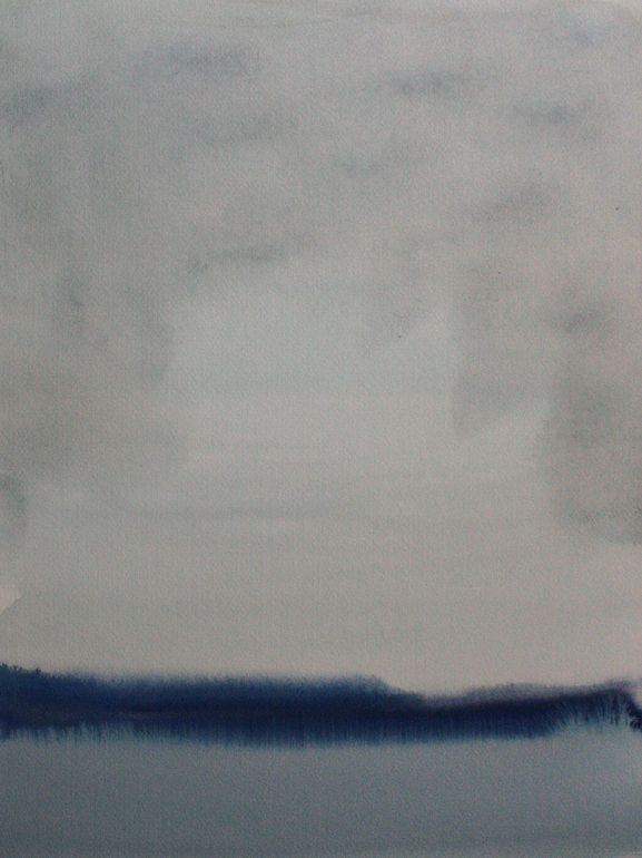 "Koen Lybaert; Watercolor, 2013, Painting ""Tasiilaq II"""