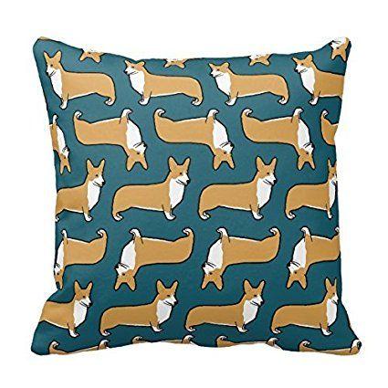 DNArtSaleStore 18X18 Fashion Throw Pillow Case Shell Decorative Cushion Cover Pillowcase Pembroke Welsh Corgis