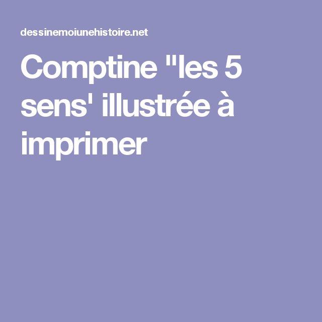 """Comptine """"les 5 sens' illustrée à imprimer"""