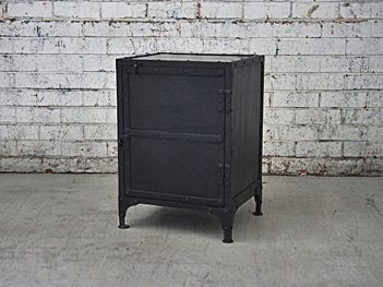This vintage styled industrial locker makes the perfect bedside table or storage unit. With lockable functionality this unit transforms into a safe, view online