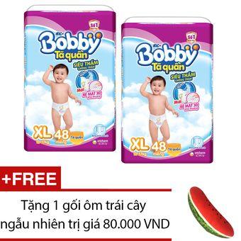 Mua ngay Bộ 2 tã quần Bobby XL48 + Tặng 1 gối ôm trái cây ngẫu nhiên chính hãng giá tốt tại Lazada.vn. Mua hàng online giá rẻ, bảo hành chính hãng, giao hàng tận nơi, thanh toán khi giao hàng!