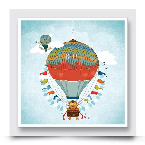 INQUISITIVE GIRAFFE hot air balloon wall art comes printed on stretched canvas or box framed & can be personalised. Add a colourful happy vibe to a baby room, bedroom or playroom. Mix & match your artwork with other designs within the Madi & Cleo collection to create your own story. Order your art print from http://www.madicleo.com/collections/wall-art-for-boys-rooms
