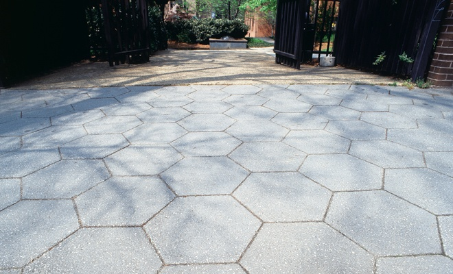 Hexagon Pavers With Images Patio Stones Concrete