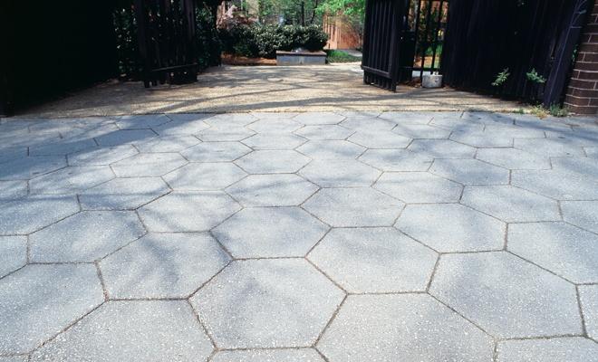 Hexagon Pavers In 2019 Concrete Driveway Pavers