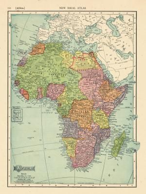 The Colonial Names of African States: Map of Africa, 1911