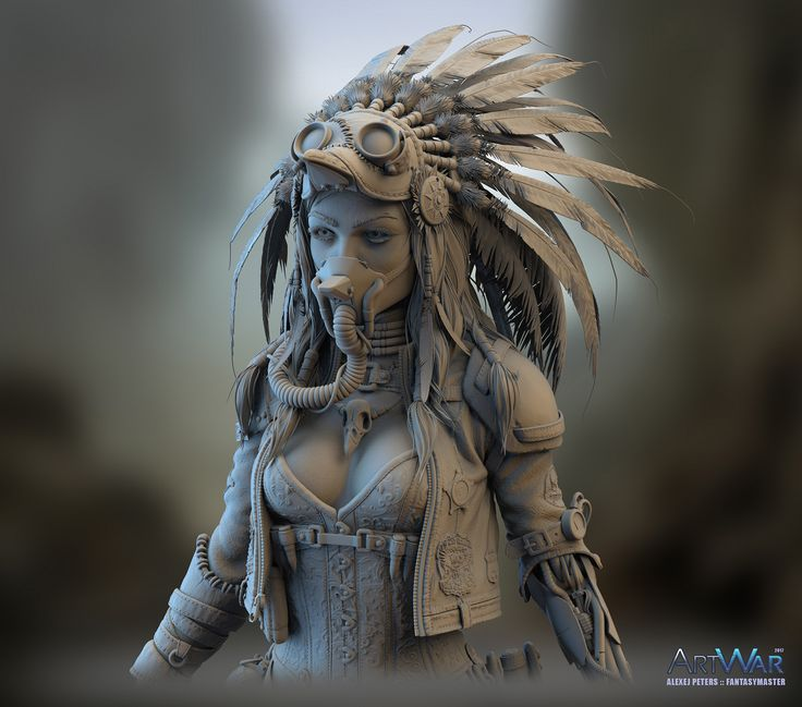 [Pinned] Quiana - Wasteland Stalker by ZBrush Central