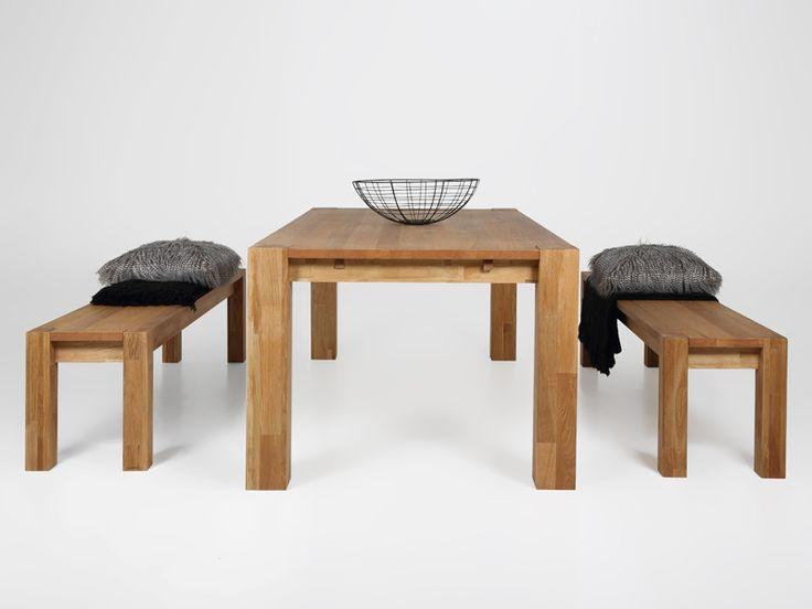 Designová jídelní lavice Trento z dubové dýhy, 170 cm | Jídelní lavice | DesignOutlet.cz