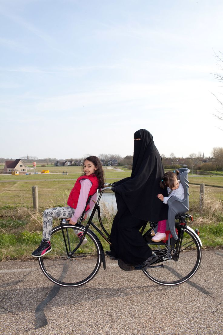 Bike Riding Fun with Ummi.always wondered how can I bicycle while garbed in…