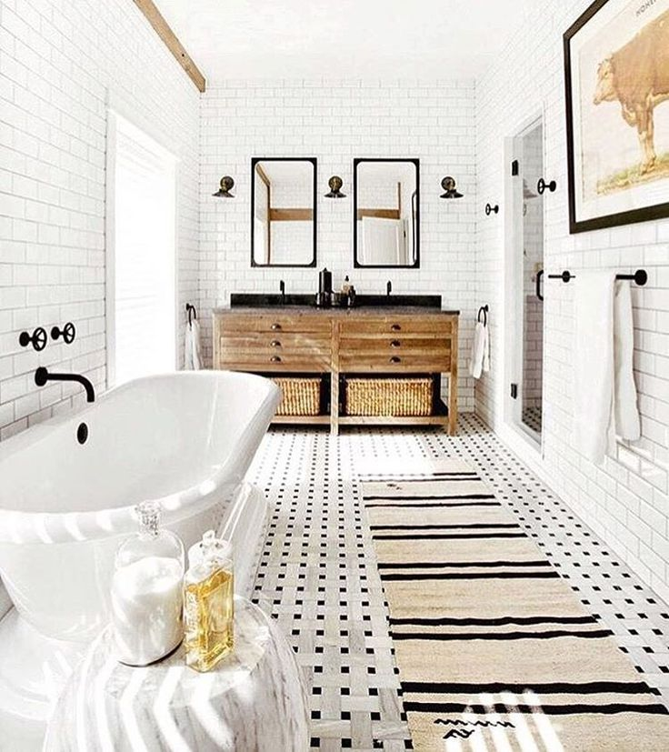 """240 Likes, 16 Comments - Rikki Snyder (@rikkisnyder) on Instagram: """"#repost from @altforliving of this dreamy bathroom designed by @timothy_godbold that we shot last…"""""""