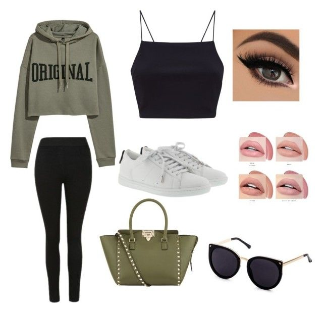 """""""Untitled #8"""" by niken-laras on Polyvore featuring Yves Saint Laurent and Valentino"""