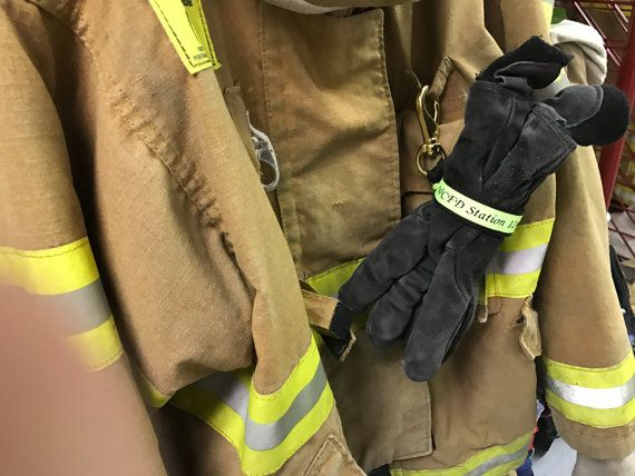 Personalized Firefighter Glove Strap Turnout Gear Glove