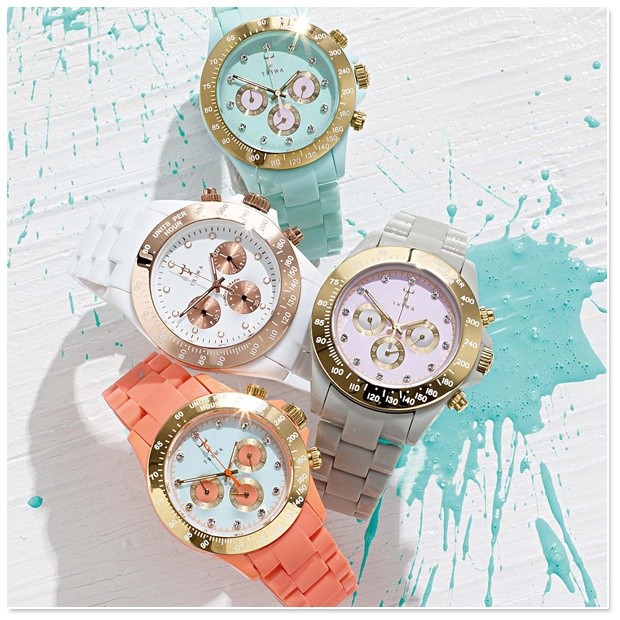 if only i could have one color for every outfit: Arm Candy, Coral, Triwa Watches, Christmas Presents, Spring Colors, Gold Watches, Pastel Colors, Accessories, Bright Colors