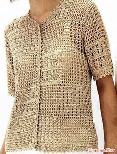 Рубашка-жакетик для тёплых осенних деньков. Модель связана по схемам из азиатского журнала. Пряжа Cable5(100% мерсеризованный хлопок,50г-165м),10,5 моточков. Крючок№2.