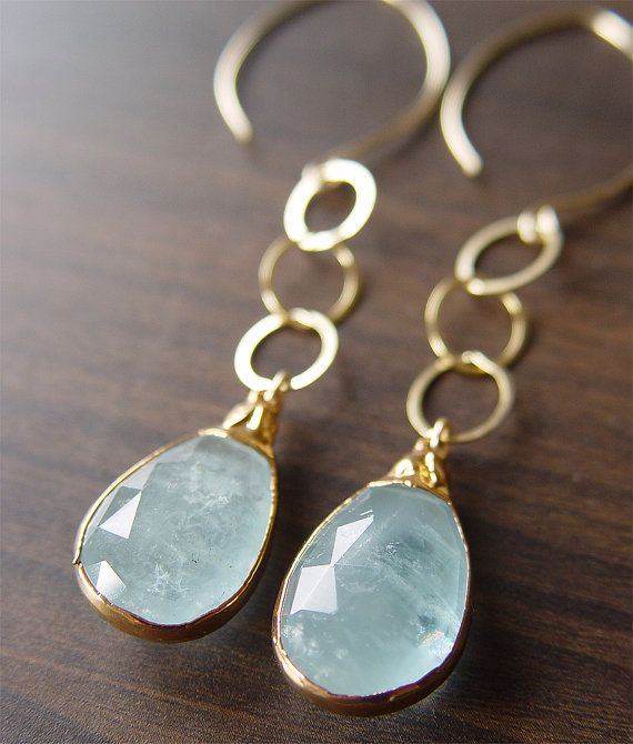 $130 aquamarine earrings