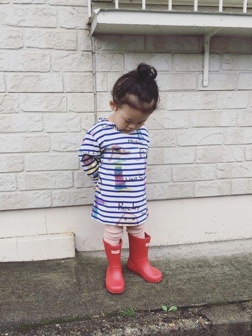 午前中はザァーザァー雨で☔️ お昼過ぎには雨がやんだのでちょっとお外へ☻︎ #外に行きたくてしかたの