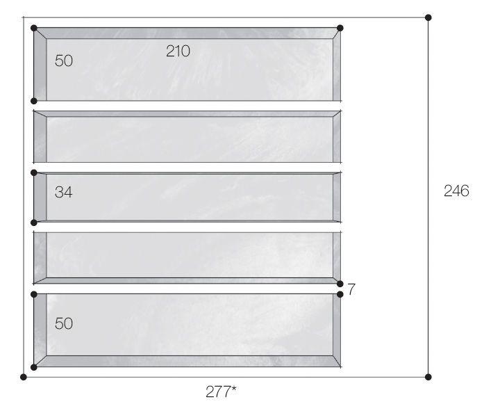 15 estantes para pôr a vida em ordem - Medidas em centímetros