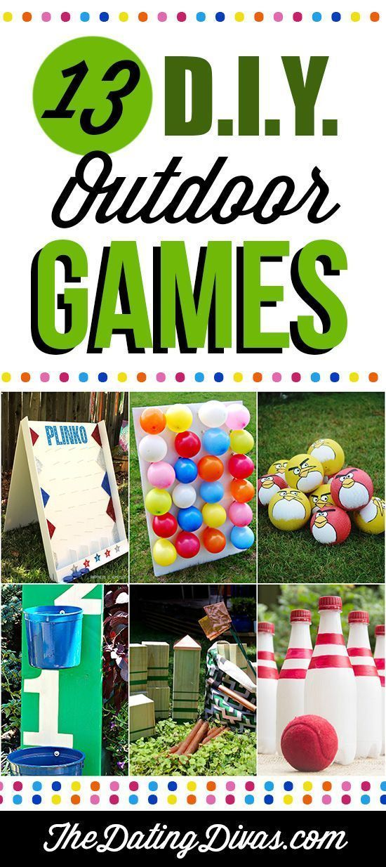 Outdoor party games for the entire family! I love that homemade Plinko game!