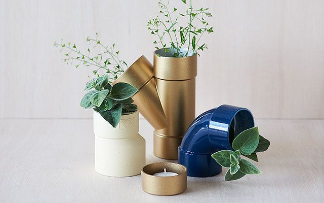 DIY Table Decorations: Pipe Plants
