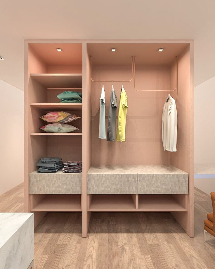 Oasis by Carve Design Studio.  A partition and wardrobe space for small room