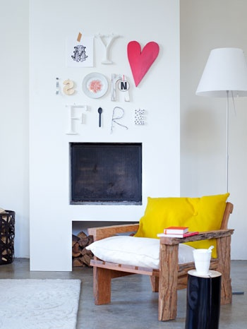 LOVE the art above the fireplace....awesome: Modern Fireplaces, Wall Art, Fireplaces Art, Girls Bedrooms, My Heart, Home Art, Living Rooms Ideas, Art Wall, Fake Fireplaces