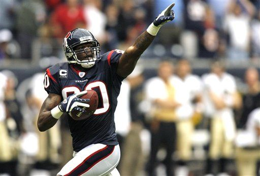 Andre Johnson hopes the Texans draft a receiver in the first round
