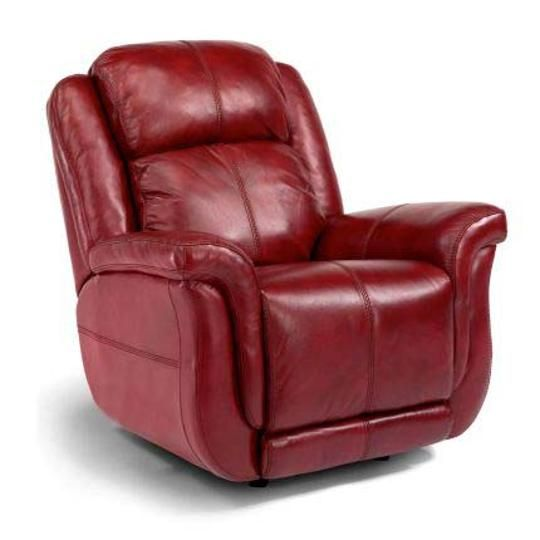 1251 500p418 60prc 40 Red Leather Power Rocker Recliner