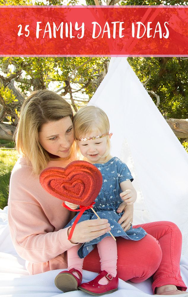 This Valentine's Day have fun with one or all of our 25 Family Date Night Ideas! Perfect tips for bonding as a family while enjoying the season!