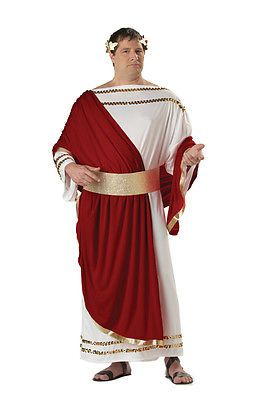 Men Costumes: Brand New Caesar Greek Toga Plus Size Adult Halloween Costume -> BUY IT NOW ONLY: $33.86 on eBay!