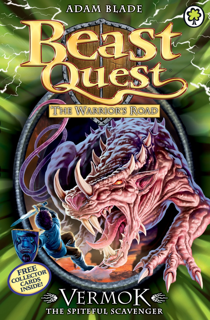 Beast Quest: Vermok the Spiteful Scavenger  By Adam Blade  Join Tom on a high-action aventure with terrible Beasts and deadly danger!