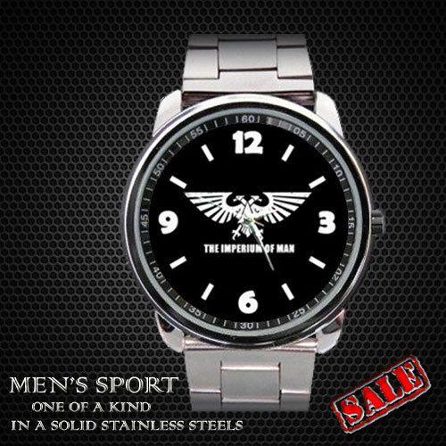 Warhammer 40K Aquila Black Sport Watch by sadamtololsain on Etsy, $13.00