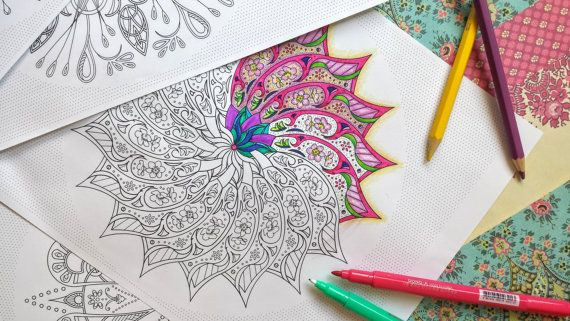 10 Detailed Coloring Sheets - Circular Pattern