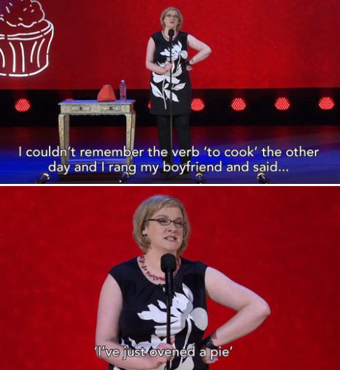 When she forgot how to speak, just for a second. | 23 Times Sarah Millican Proved She's The Funniest Woman In Britain