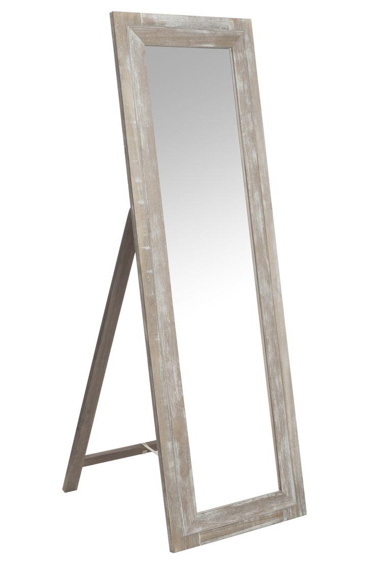 miroir en bois rectangle sur pied 55x165cm - Miroir De Chambre Sur Pied