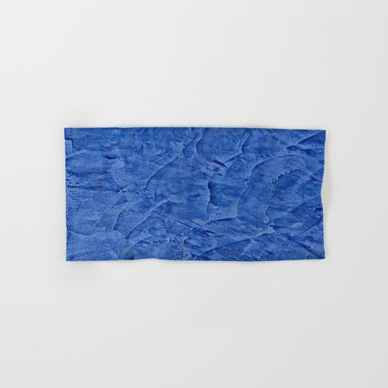 HAND & BATH TOWEL HAND TOWEL Beautiful Vibrant Light Blue Plaster #society6 #bluedecor #blue by Corbin Henry